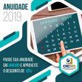 Anuidades 2019 – 10% de Desconto para Pagamentos em Janeiro